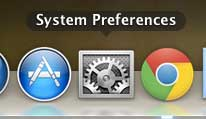 click system preferences window