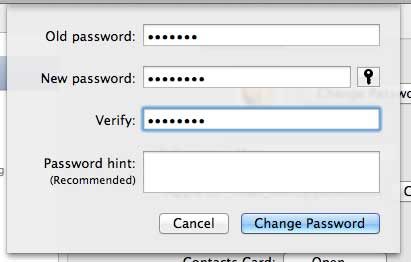 Fill in all of the fields appropriately, then click the Change Password button