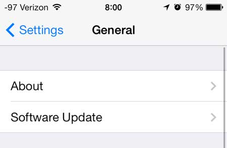 ios 7 about