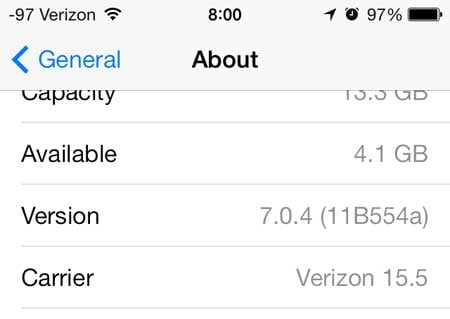 how to check whether you have ios 6 or ios 7
