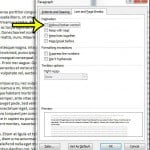 How to Turn Off Widow/Orphan Control in Word 2010