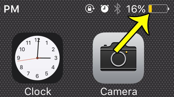 yellow battery icon iphone 6