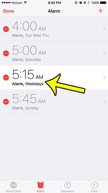 select alarm