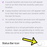How to Hide the Status Bar Icon When iPhone System Services Are Using Your Location