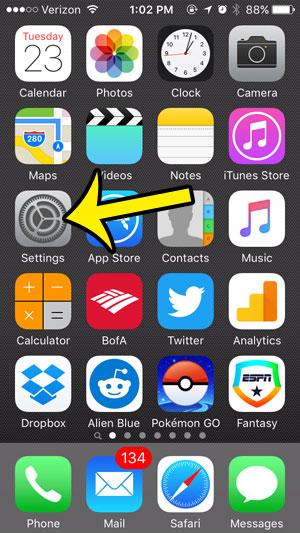 open iphone 5 settings
