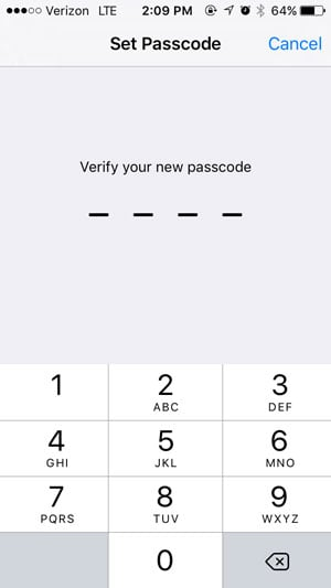 how to use a passcode on the iphone 5