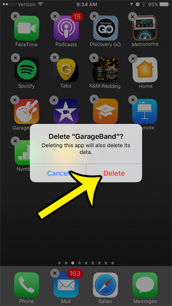 how to delete mail on iphone 7