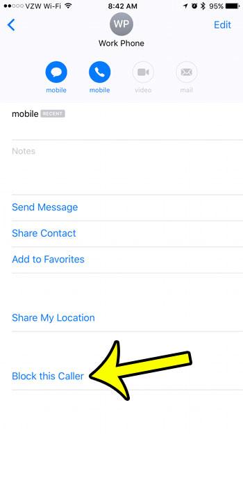 block a text message sender on an iphone 7