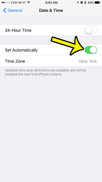 will my iphone update automatically for daylight savings time