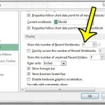 How to Stop Showing Recent Documents in Excel 2013