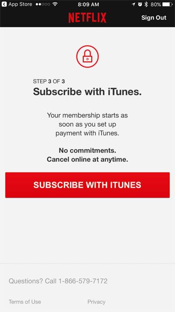 how to sign up for and set up netflix on an iphone 7