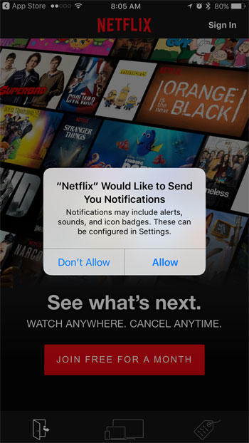 how to set up netflix on an iphone 7