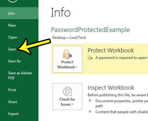how to protect an excel spreadsheet with a password