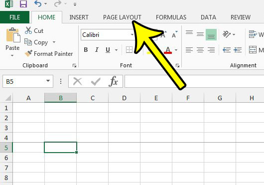 get rid of a page break in excel 2013