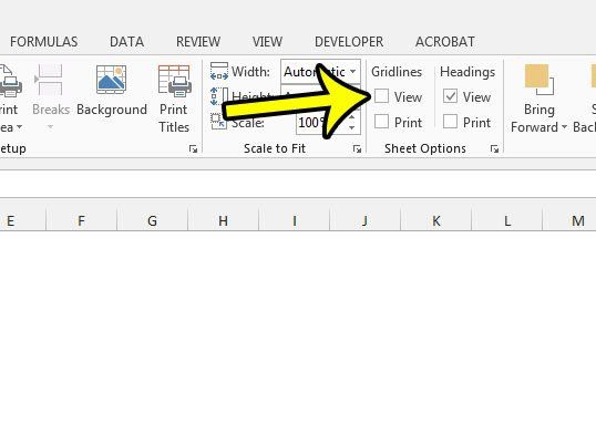Can I Get Rid Of The Lines On My Spreadsheet In Excel 2013