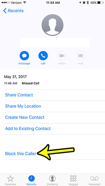 how to block a call on an iphone 7