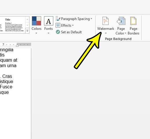 remove watermarks in word 2013