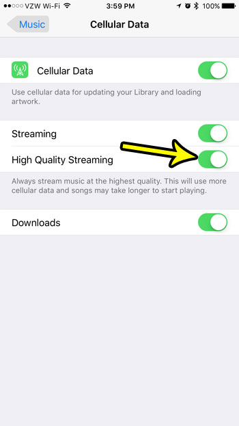 iphone music high quality streaming