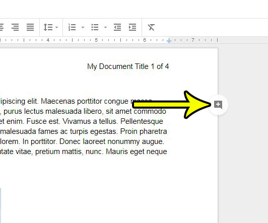 how to insert a google docs comment