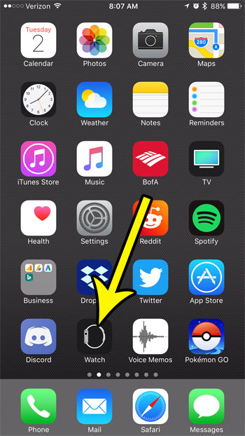 open the iphone watch app
