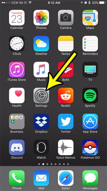 iphone settings menu