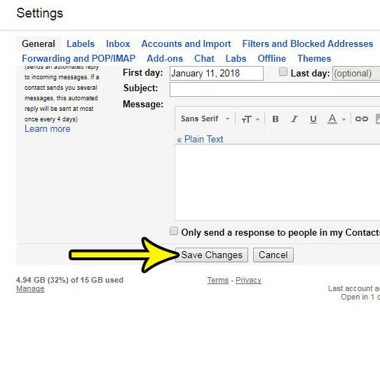 change keyboard shortcut setting in gmail