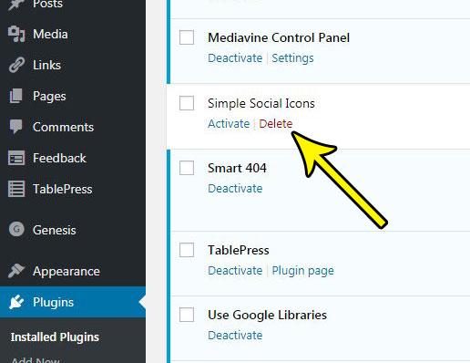 how to delete a plugin in wordpress