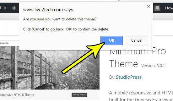 how to remove inactive theme from wordpress