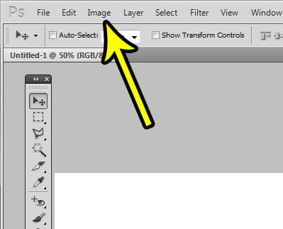 open the image menu in photoshop