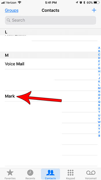 change the information for a contact on iphone