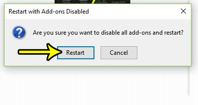 how to restart in safe mode in firefox