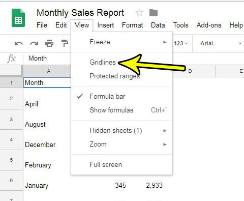 how to print with gridlines in google sheets