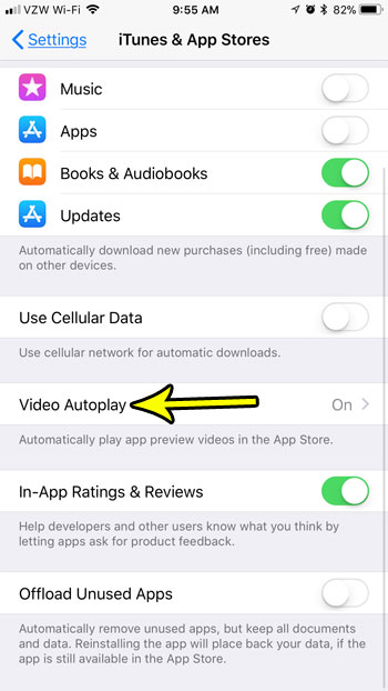 how stop app store videos from playing automatically