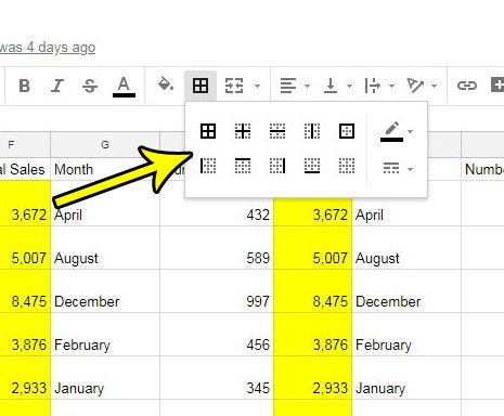 how to add borders in google sheets