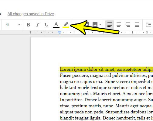 clear color from text in google docs
