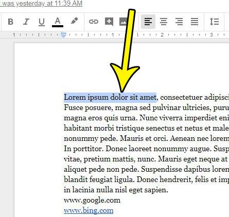 select text to strikethrough google docs