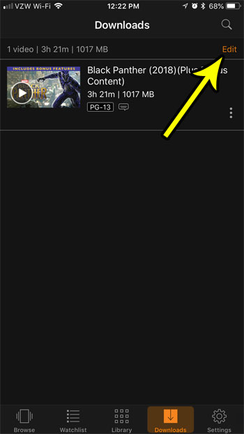 prime video iphone delete download