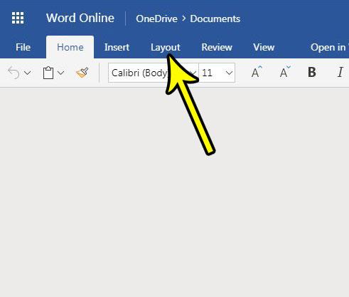 word online margin size