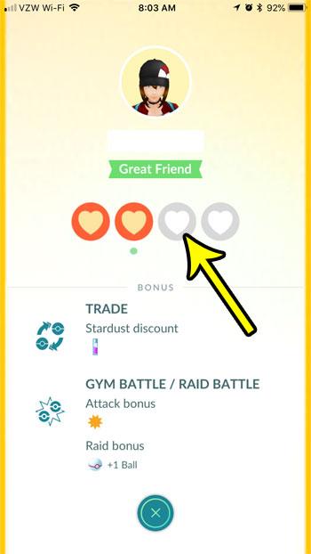 pokemon go find friendship level