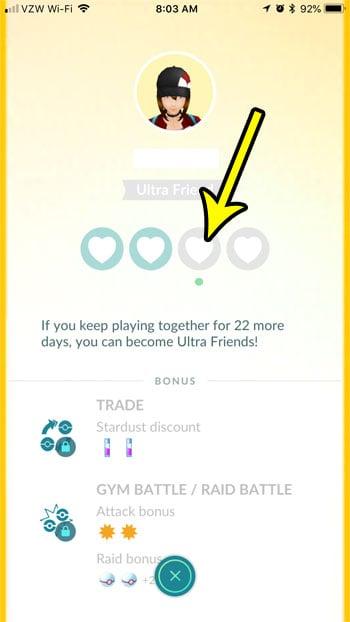 how many days left friendship increase pokemon go