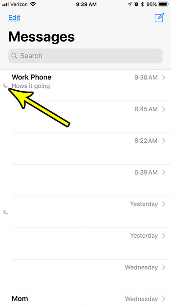 Why Is There a Crescent Moon Next to a Text Message in iOS ...