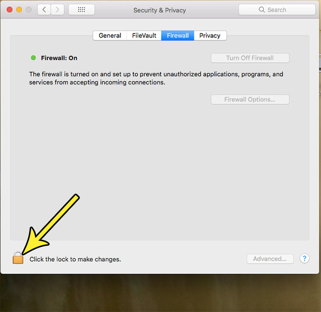 how to disable firewall on macbook air