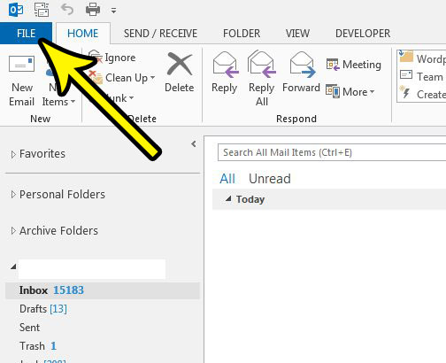 how to always show all search results in outlook 2013