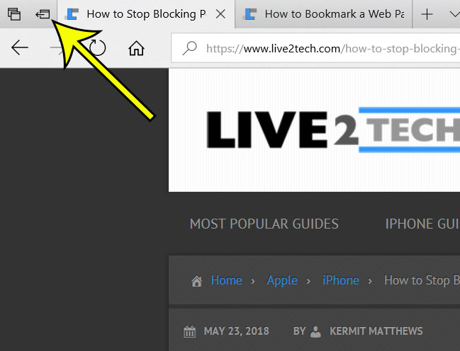 microsoft edge how to set tabs aside