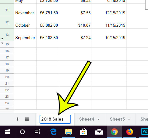 how to change the name of a tab in google sheets