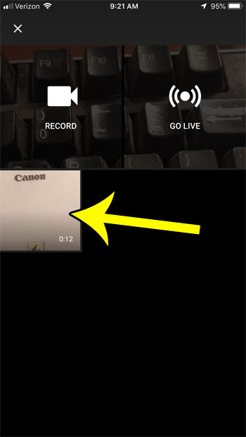 select the video to upload