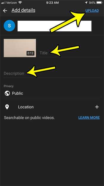 how to upload a video to youtube from an iphone 7