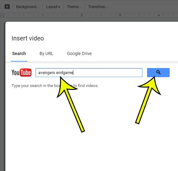 how to insert a youtube video in google slides
