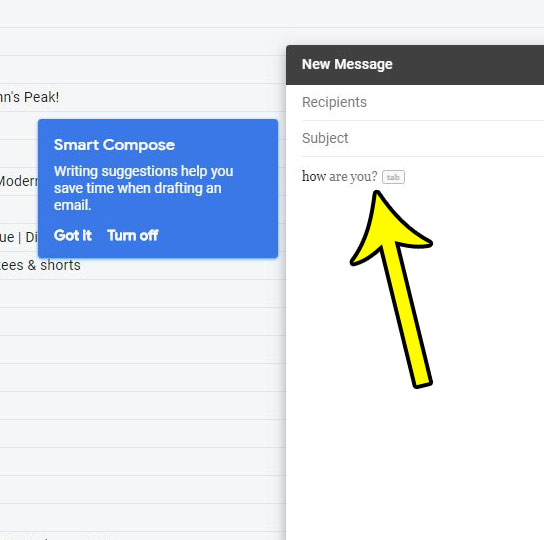 how to turn off writing suggestions in gmail