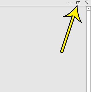click the Ribbon Display Options button